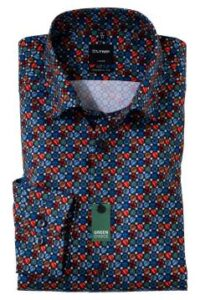 mouwlengte-7-overhemd-olymp-blauw-rood-dessin