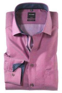 olymp-overhemd-paars-printje-modern-fit